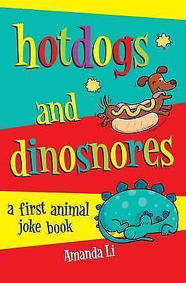 Hot Dogs and Dinosnores: A First Animal Joke Book-ExLibrary