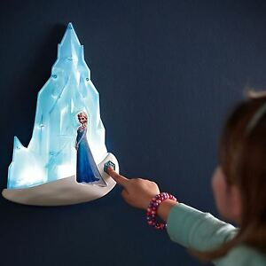 OFFICIAL DISNEY FROZEN ELSA 3D WALL LIGHT CHILDRENS BEDROOM LIGHTING ...