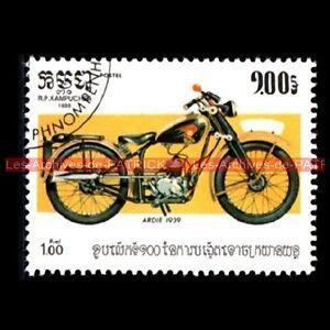 ARDIE-1939-KAMPUCHEA-Cambodge-Moto-Timbre-Poste
