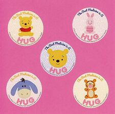 10 Winnie the Pooh Bear Best Medicine is a Hug - Large Stickers - Party Favors