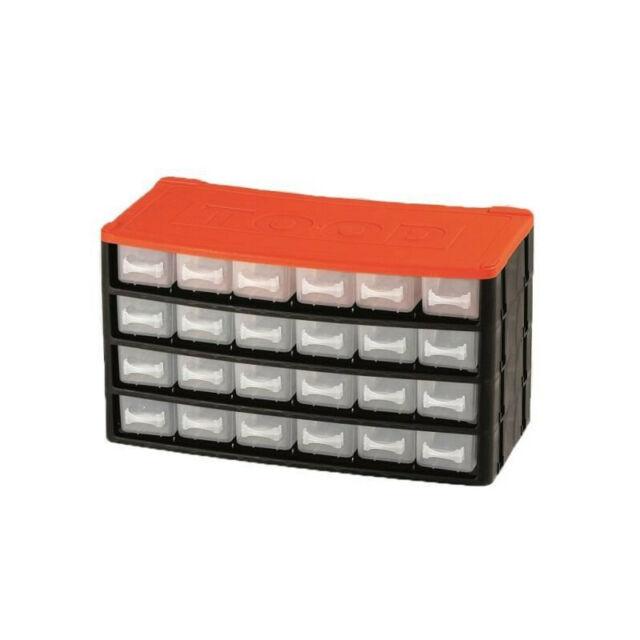 TOOD Casier de rangement 24 tiroirs 33x16x18 cm