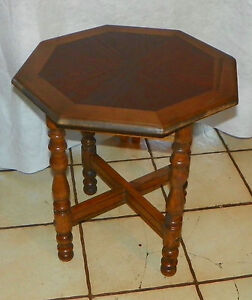 Image Is Loading Oak Octagon Side Table Lamp Table T625