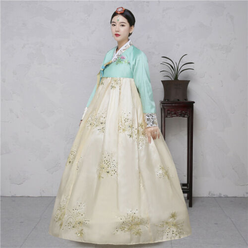 New Women Hanbok Dress Korean Traditional Clothes National Costumes Embroidered