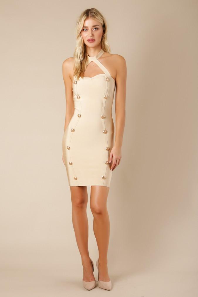 Wow Couture Halter BODYCON DRESS MINI