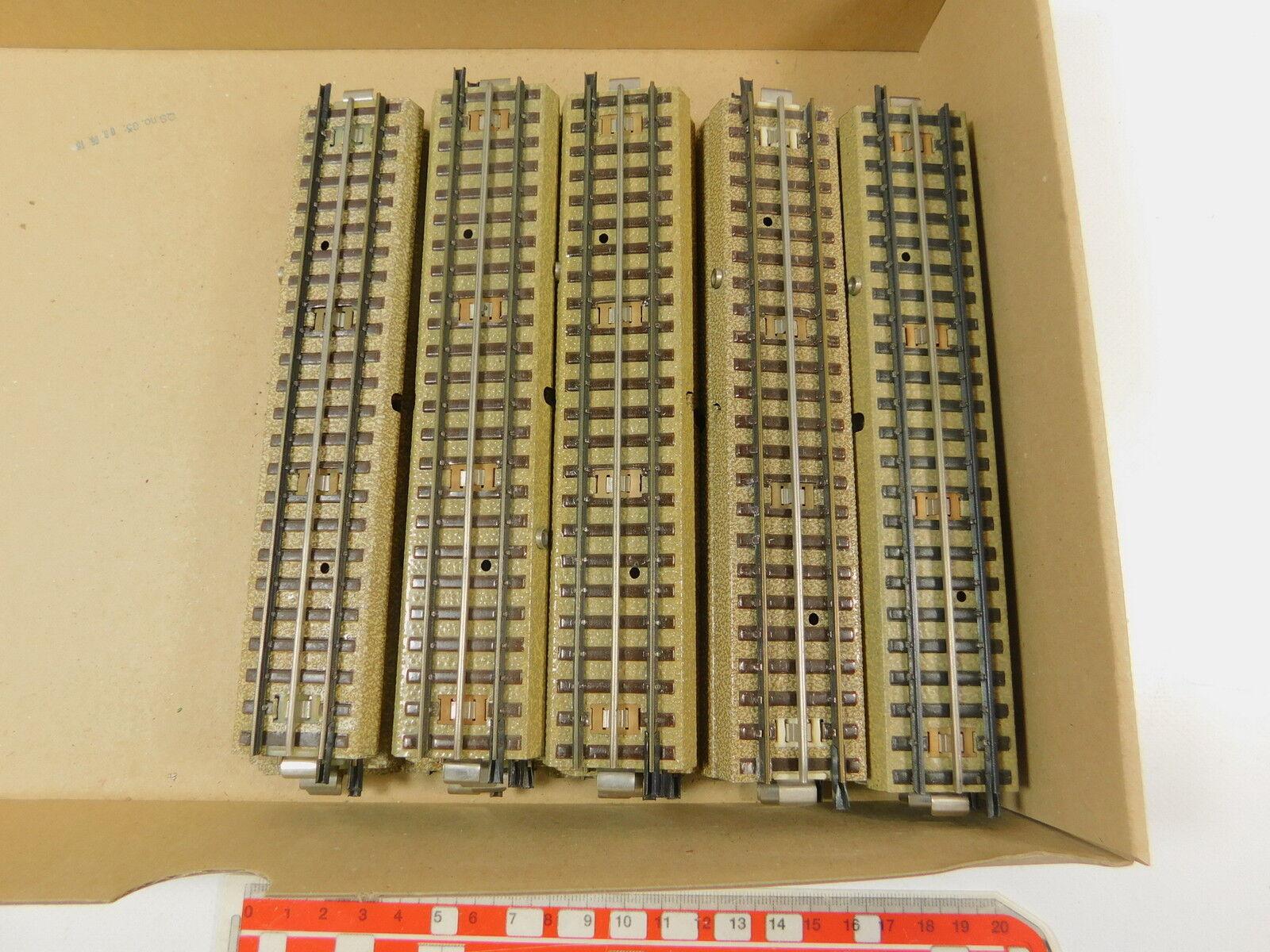 AR505-2  24x Märklin H0 00 Gleisstück gerade M-Gleis 3600 800 Mittelleiter s. g.