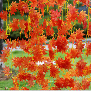 Artificial-Red-Autumn-Maple-Leaf-Garland-Vine-For-Wedding-Party-Home-Decor-GVe