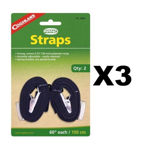"3-Pack of 2 Coghlan/'s Arno Straps 60/"" Adjustable Non-Slip Suspenders w//Buckle"