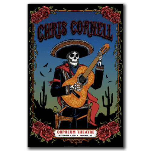 Art Hot 40 FABRIC Poster N2877 1964-2017 Chris Cornell Soundgarden Lead