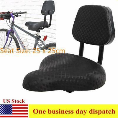 "9.8/"" Black Bicycle Bike Tricycle Saddle Seat Rest Seat Cushion Pad w// Back US"