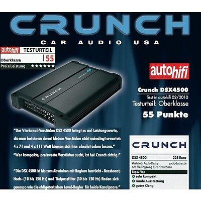 Mettere In Guardia Crunch Dsx-4500 Definition Amp 4 Canali Amplificatore Dsx4500 4 X 75/125 Watt Giada Bianca