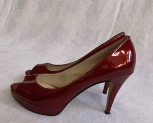 d4b86b76bf6 Detalles acerca de ENZO Angiolini 'eademario' para Mujer Rojo De Salón  Tacón Alto Punta Abierta-tamaño 9.5 M- mostrar título original