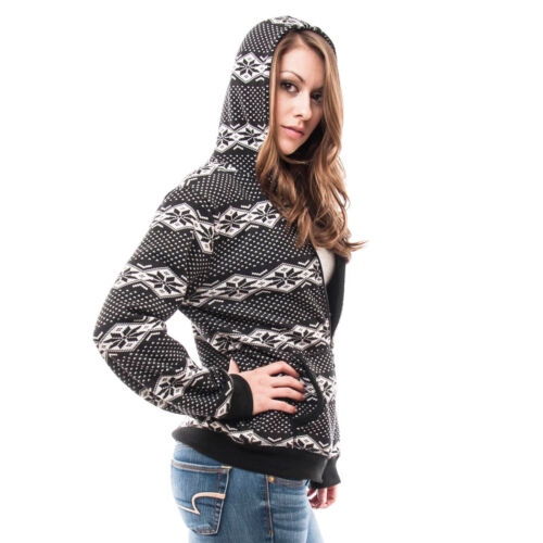 NEW LADIES HOODED PARKA FLEECE TOP SIZE S-XL WINTER WARM WOMENS LONG JACKET COAT