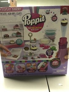 KIDS-Poppit-Pop-and-Display-Mini-Cupcake-Bakery-Set-Clay-Craft-Activity-Kit