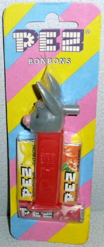 Bonbons Merry Maker Mint on Card 1980 Pez Donkey Whistle