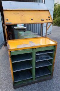 Details zu METALLSCHRANK Werkzeugschrank Schreibpult Industrie Design Möbel  Metall Vintage