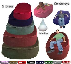 Corduroy-Beanbag-Beds-Sofa-Ottoman-Lounger-Settee-Couch-Interlined-Filled