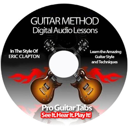 ERIC CLAPTON Guitar Tab Software Lesson CD + BACKING TRACKS + FREE BONUSES