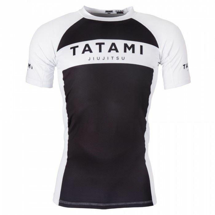 Tatami Original Short Sleeve BJJ Rash Guard MMA Martial Art Compression Top Blk