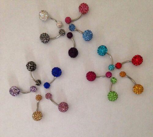 Shamballa Crystal Rhinestones Disco Ball Belly Button Navel Ring