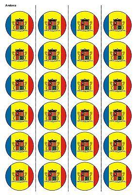 24x Precortada Gales Bandera Fútbol Comestibles De Oblea de papel Cake Toppers 1240 Cupcake
