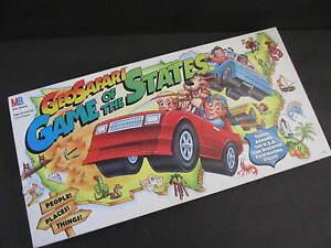 Geosafari GAME OF THE STATES GAME MILTON BRADLEY 100% COMPLETE