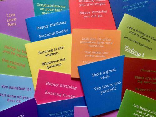 Anniversaire//Bonne chance carte-carte de vœux pour RUNNER de running cartes UK