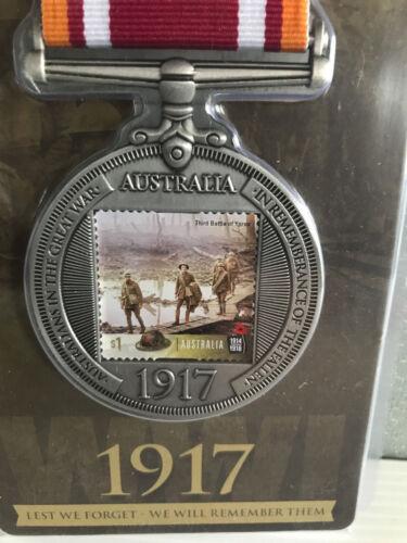 New Mint Sealed Australians At Flanders 1917 World War 1 Collectors Stamp Medal