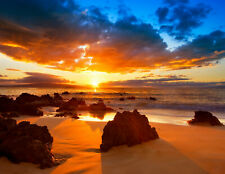 1036V VLIES Fototapete-CAPE HATTERAS BEACH- -Meer Küste Strand Sonnenuntergang