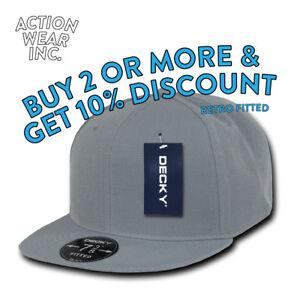 2d08cb57c8b DECKY RP1 MEN S FITTED HAT RETRO HATS FLAT BILL CAPS BASEBALL CAP ...