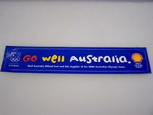 Shell-034-Go-well-Australia-034-2000-Sydney-Olympic-Games-adhesive-sticker-decal