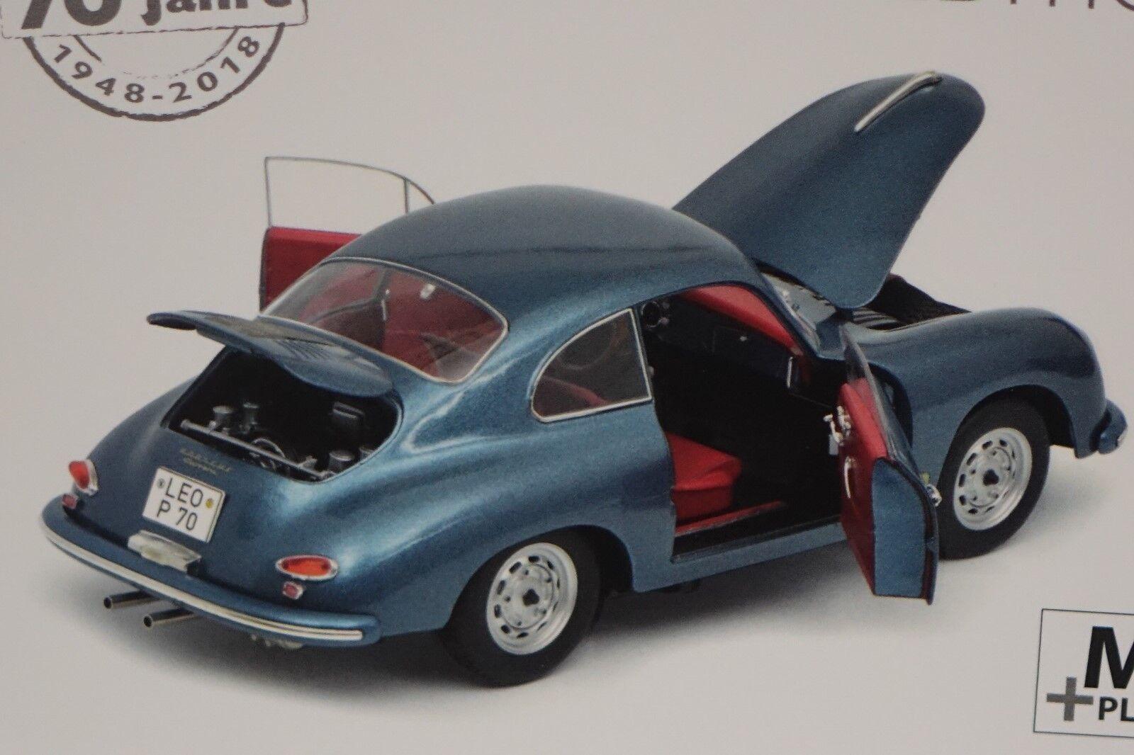 Porsche 356 A Coupe 1948 bleu métallisé 1 18 Schuco 450031200 NOUVEAU & NEUF dans sa boîte