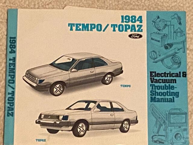 1984 Ford Tempo Mercury Topaz Electrical Diagnosis Vacuum