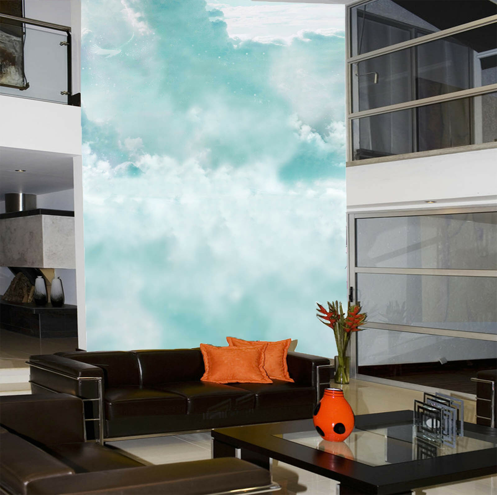 3D bluee Sky Rolling Clouds 39 Wall Paper Wall Print Decal Wall AJ Wall Paper