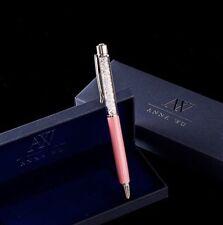 NIB Swarovski Inspired Fashion Crystal Pen w Case By Anna Wu - CORAL
