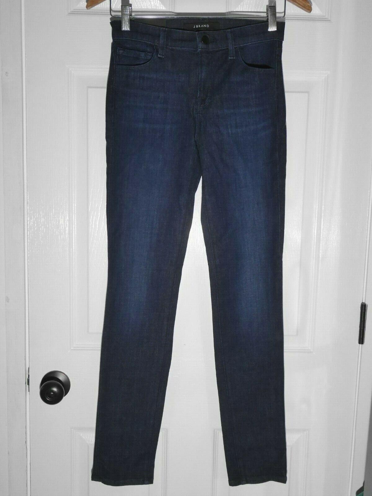 228 NEW J Brand Hi-Def Stretch Mid Rise Skinny Leg Jeans in Daring Dark Wash 26