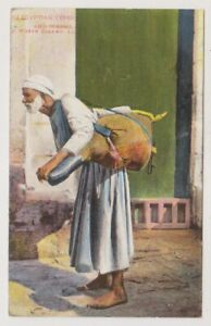 Egypt-postcard-Egyptian-Types-amp-Scenes-A-Water-Seller-LL-No-64-A45