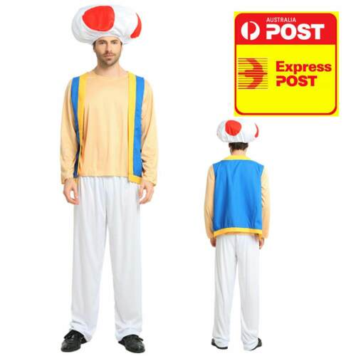 ADULT TOAD DELUXE COSTUME MARIO BROS GAME