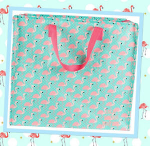 Fab-amp-Quirky-Pink-Flamingos-Storage-Laundry-Shopping-Bag-Sass-amp-Belle