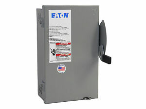 30 amp 3 phase non fused disconnect switch eaton cutler hammer rh ebay com Service Disconnect Box Air Conditioner Disconnect Box