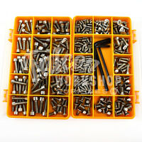 343 ASSORTED PIECE A2 STAINLESS STEEL M4 M5 M6 BOLTS SCREWS, PEDAL KIT FOR BIKES