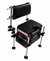 World Class Seat Box Back Rest System Coarse Pole Fishing Universal Chair Kit