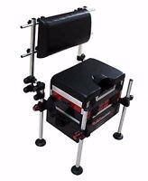 World Class Seat Box Back Rest System Coarse Pole Fishing Universal Chair Kit