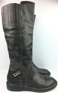 Alberto Fermani Gray Gray Gray Grün Leder Riding Knee High Stiefel sz  38 US ... bc9786