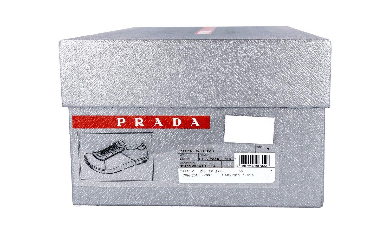 LUSSO Scarpe Prada  4e3060 BLU + + BLU GRIGIO NUOVO NEW 9,5 43,5 44 97978c