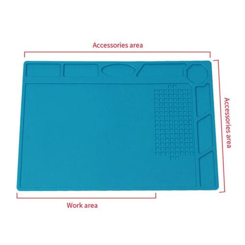 Anti Static Heat Insulation Silicone Mat Soldering Repair Pad Desk Pad PC Phone
