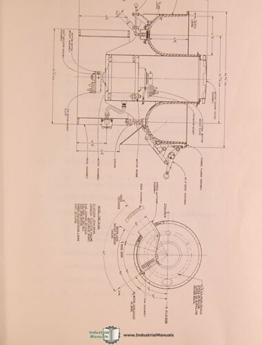 Sweco FMD-10 HA Install Operations Maintenance /& Parts Manual 1969 Finish Mill