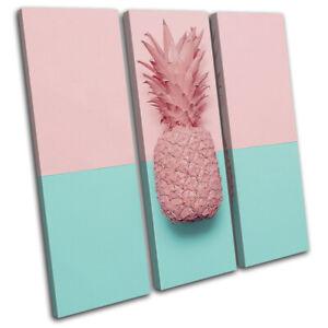 Pastel-Pineapple-Modern-Food-Kitchen-TREBLE-CANVAS-WALL-ART-Picture-Print