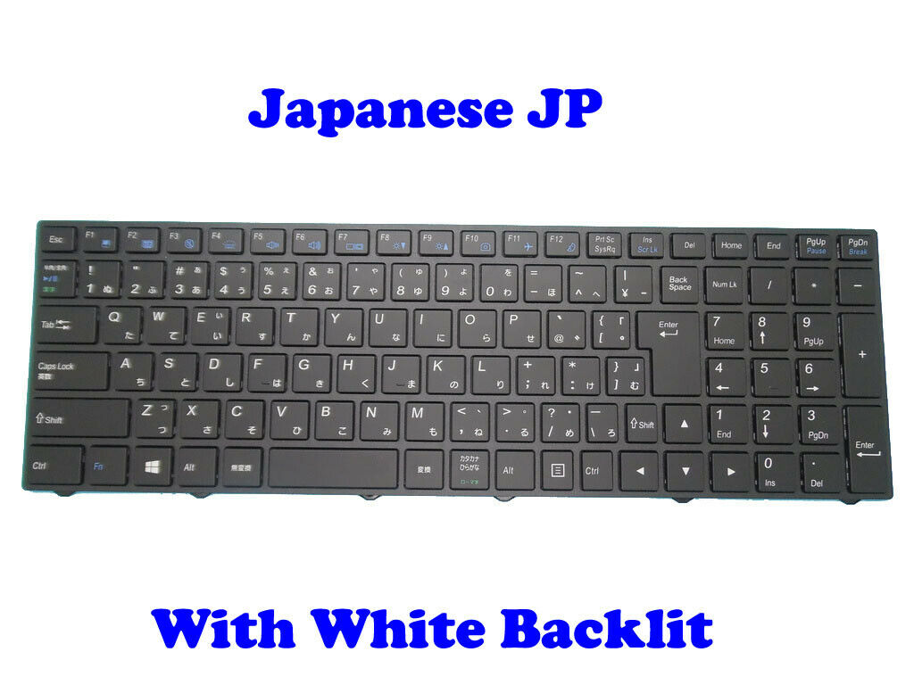 Japan Backlit Keyboard For CLEVO NB50TJ1 NB55TJ1 NB55TK1 NB50TH NB60TH JP