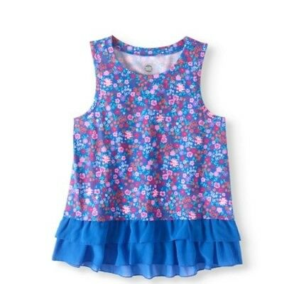 WONDER NATION GIRLS Ruffle Tank DRESS OUTFIT Multi Color SIZE L 10-12 XL 14-16