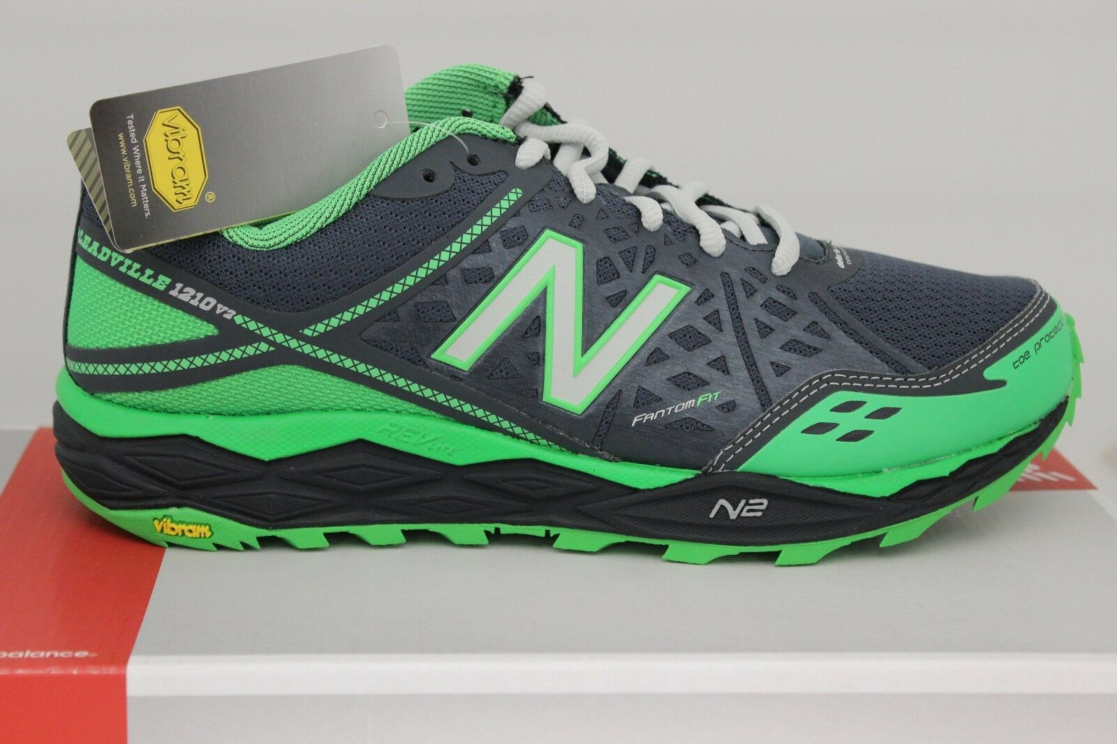 Men's New Balance Trail Running 1210 V2 MT1210G2 Dark Grey Green Brand New